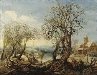 An extensive winter river land