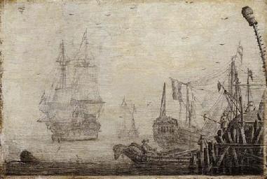 A penschilderij: Shipping in a