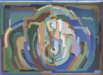 Cubist composition