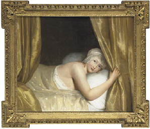 A young girl in bed