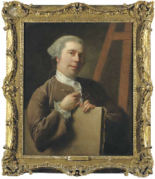 Portrait of the artist, half-l