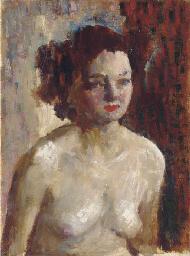 Sketch of a nude, half-length