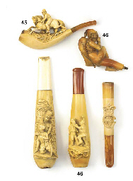 Three meerschaum cigarette and