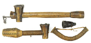 Three African pipes