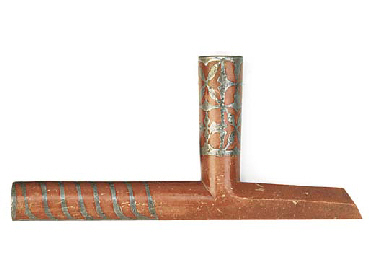 A Plains Indian Catlinite pipe
