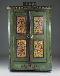 A DANISH PAINTED CUPBOARD