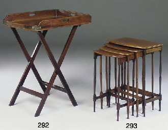 A set of four Edwardian mahoga