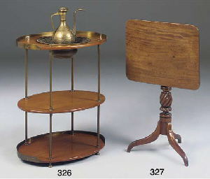 A Victorian brass mounted wash