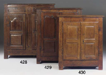 A FRENCH FRUITWOOD AND WALNUT