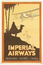 IMPERIAL AIRWAYS, ENGLAND-EGYP