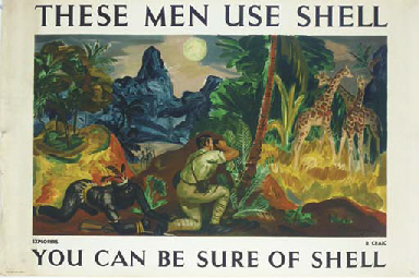 THESE MEN USE SHELL, EXPLORERS
