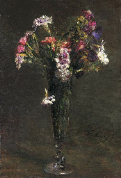 Fleurs: oeillets et jacynthe d