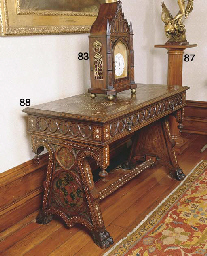 A WALNUT PEDESTAL