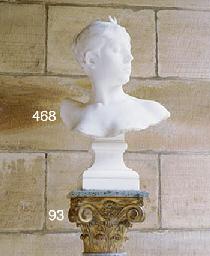 With gilt terracotta capital a