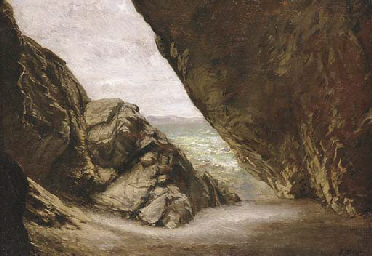 The Cave at Tintagel: Study fo