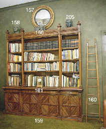 A BAMBOO LIBRARY LADDER