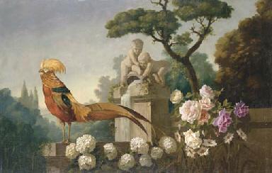 Allegorical Scene with Peacock