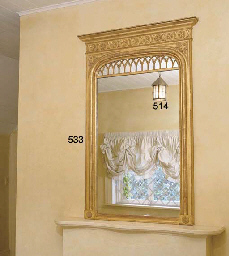 A VICTORIAN CARVED GILTWOOD OV