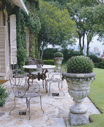 A CAST IRON CONSERVATORY TABLE