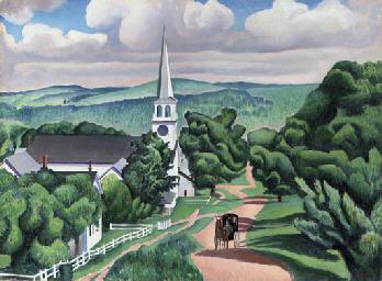 Vermont Landscape (Peacham, Ve