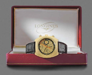 Longines. An unusual 18K gold