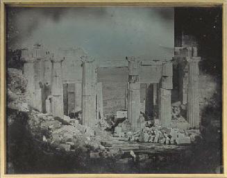 91. Athènes. 1842. Propylées.