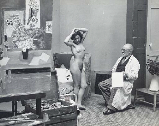 Matisse with his model, 1939