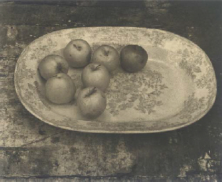 Seven apples on plate, 1994