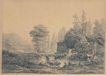 Un paysage avec une rivière, d