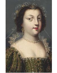 Portrait de femme au collier d