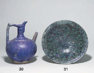 A NISHAPUR COBALT-BLUE GLAZED