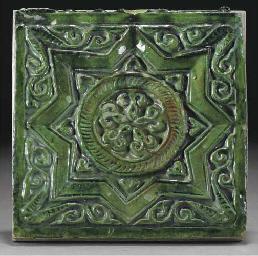 A Ghaznavid emerald green glaz