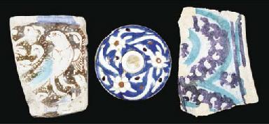 Three pottery fragments, Iran,