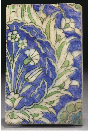 A Damascus  pottery tile, Syri