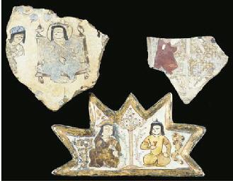 Three Mina'i pottery fragments