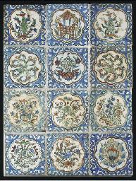 A panel of twelve Kuachi style