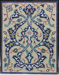 A Safavid style mosaic tile pa