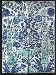 A panel of six Damascus potter