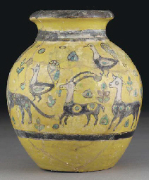A Nishapur style pottery vase,