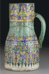 A Moroccan pottery jug, late 1