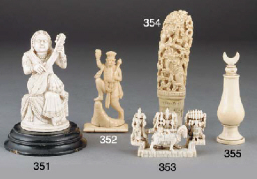 A small Indian ivory figural c