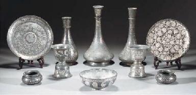 A group of ten Bidriware piece