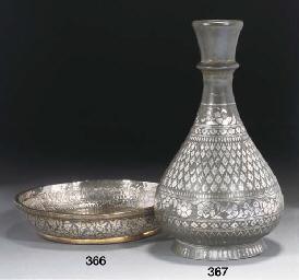 A Bidriware vase, 18/19th Cent