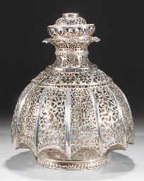 An Indian silver pierced hangi