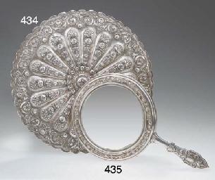 A large Ottoman silver repouss