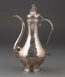 An Ottoman silver ewer, 19/20t
