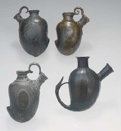 A group of seven Mughal bronze