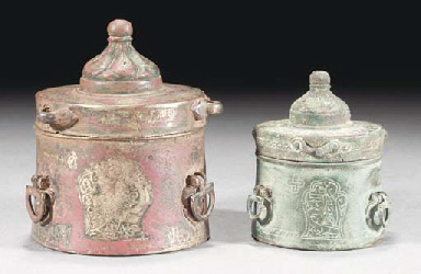 Two Seljuk inkwells, 12th Cent
