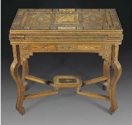 A Damascus inaild games table,