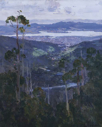 Hobart from the Slopes of Moun